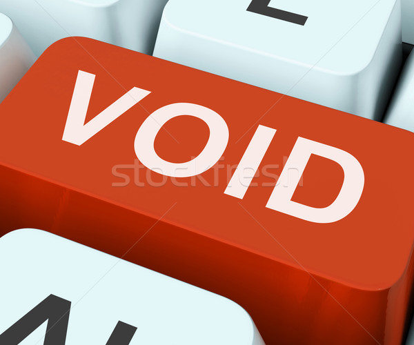 Void Key Shows Invalid Or Invalidated Contract Stock photo © stuartmiles