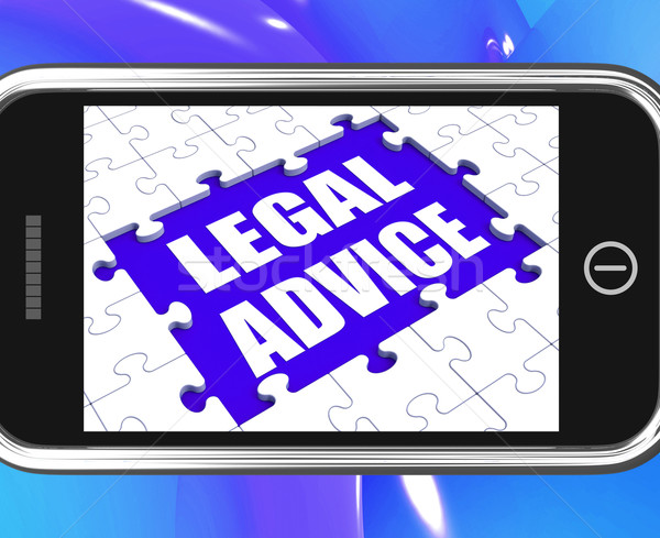 Legal Advice Tablet Shows Expert Or Lawyer Assistance Online Stock photo © stuartmiles