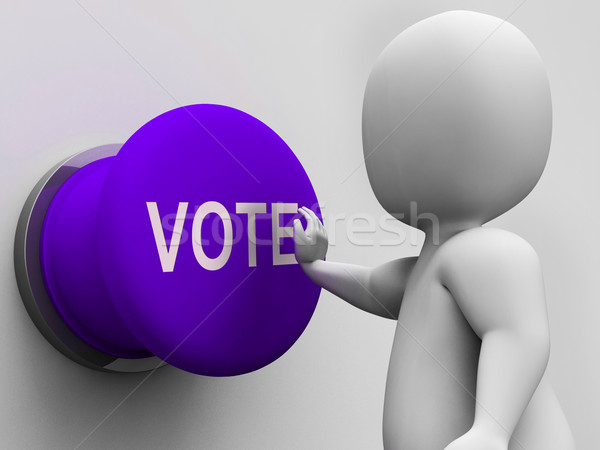 Vote Button Means Choosing Electing Or Poll Stock photo © stuartmiles