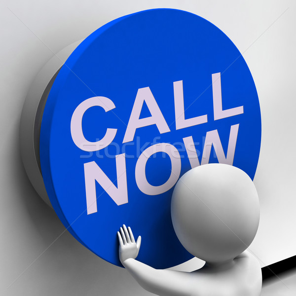 Call Now Button Shows Assistance And Support Center Stock photo © stuartmiles