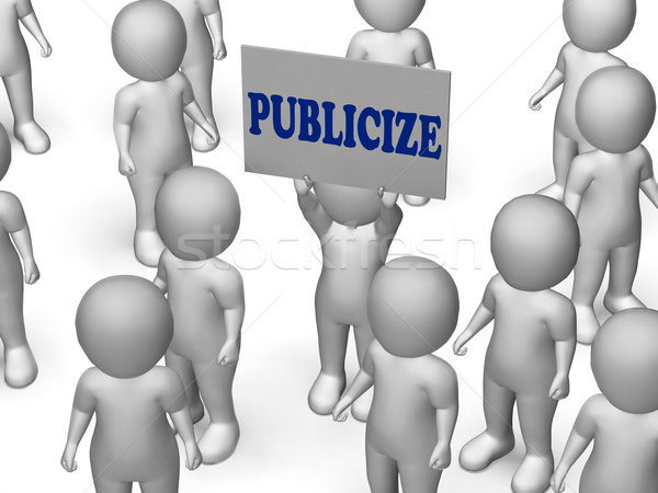 Publicize Board Character Shows Product Advertising Or Business  Stock photo © stuartmiles