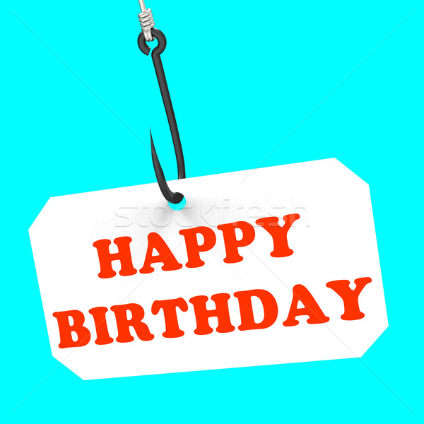 Alles Gute zum Geburtstag Haken Geburt Feier Jahrestag Stock foto © stuartmiles