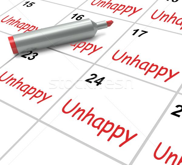 Nieszczęśliwy kalendarza problemy stres smutek znaczenie Zdjęcia stock © stuartmiles