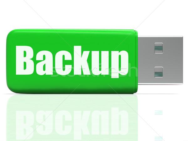 Biztonsági mentés toll vezetés adattárolás akta átutalás Stock fotó © stuartmiles