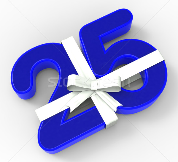Foto stock: Número · vinte · cinco · fita · aniversário