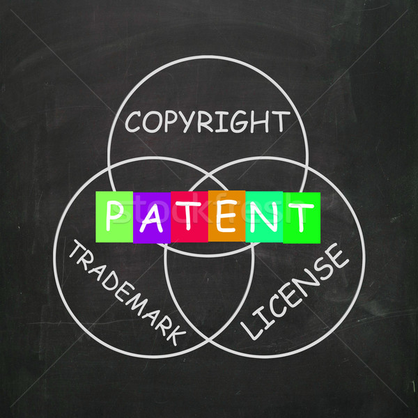 Patent Copyright License and Trademark Show Intellectual Propert Stock photo © stuartmiles