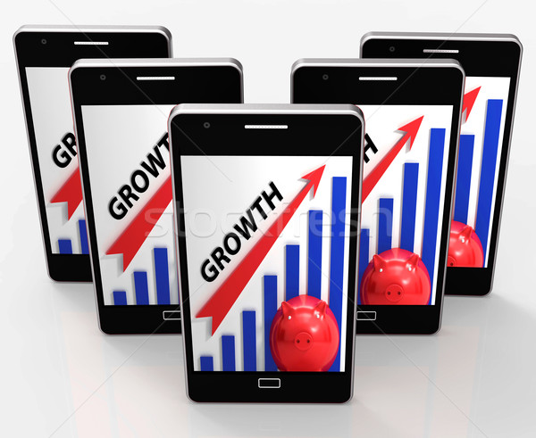Growth Graph Means Financial Increase Or Gain Stock photo © stuartmiles