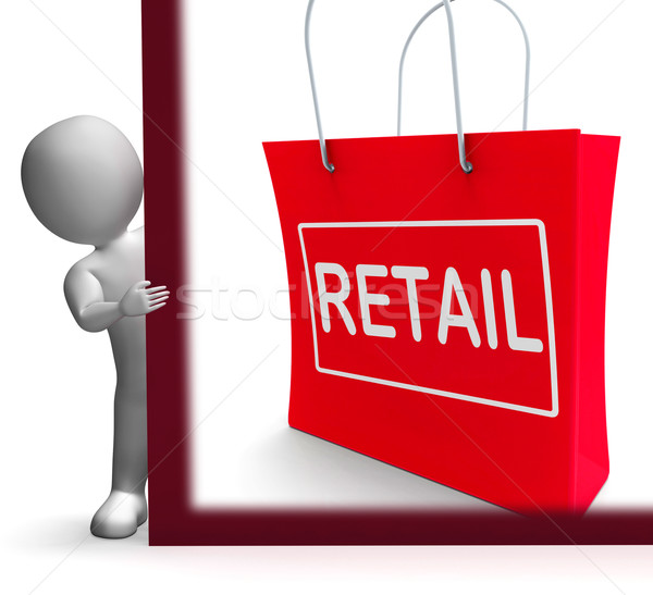 Retail Shopping Sign Shows Buying Selling Merchandise Sales Stock photo © stuartmiles