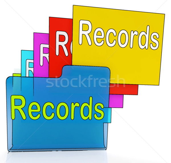 Records Folders Shows Files Reports Or Evidence Stock photo © stuartmiles