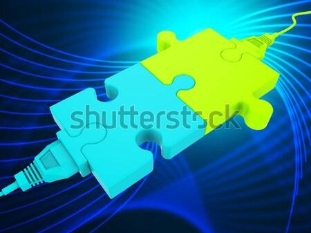 Hálózat kapcsolat globális kommunikáció számítógép mutat számítástechnika Stock fotó © stuartmiles