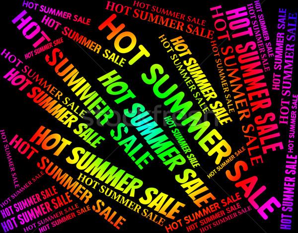 Hot lata sprzedaży detalicznej ciepło znaczenie Zdjęcia stock © stuartmiles