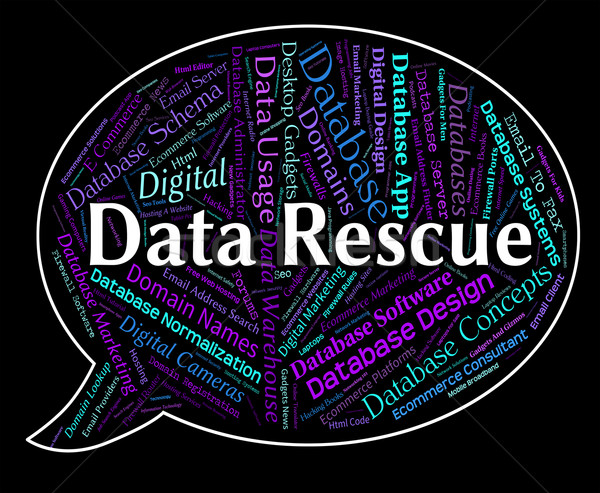 Data Rescue Shows Set Free And Bytes Stock photo © stuartmiles