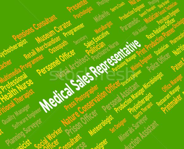 Médico de vendas representante palavras trabalhar Foto stock © stuartmiles