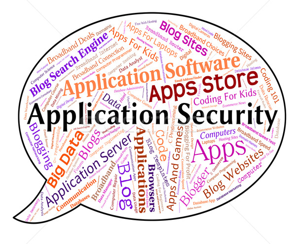Application Security Represents Word Restricted And Applications Stock photo © stuartmiles