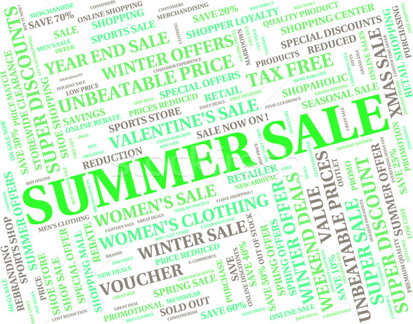 Summer Sale Means Hot Weather And Cheap Stock photo © stuartmiles