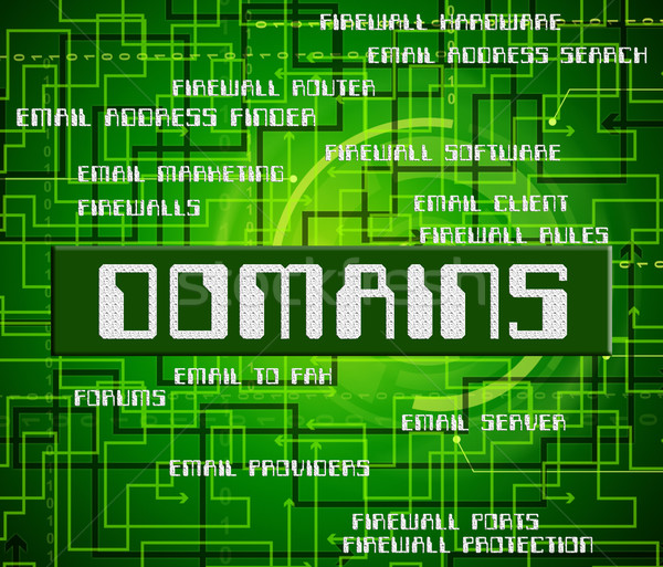 Domains Word Indicates Dominion Zone And Text Stock photo © stuartmiles