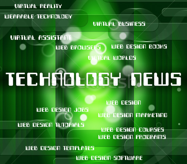Technology News Represents Newsletter Word And Data Stock photo © stuartmiles