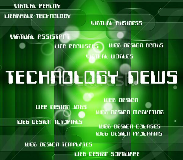 Technologie nouvelles bulletin mot données journal Photo stock © stuartmiles