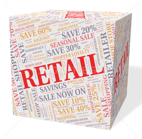 Retail Word Shows Selling Words And Text Stock photo © stuartmiles