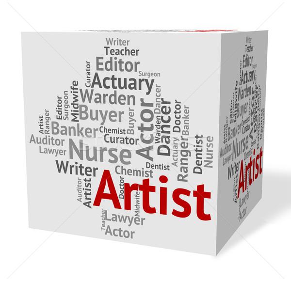 художник работу выдвижной ящик Живопись смысл Сток-фото © stuartmiles