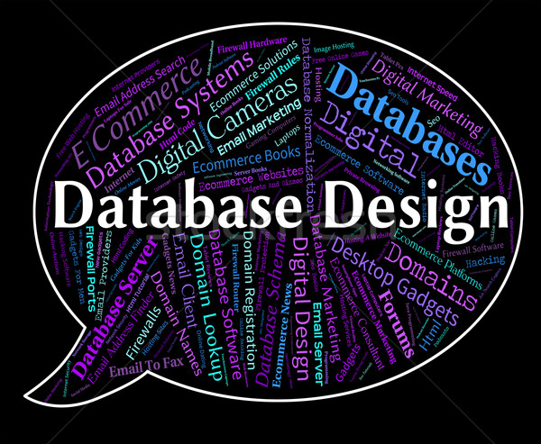 Database Design Means Computer Word And Designed Stock photo © stuartmiles