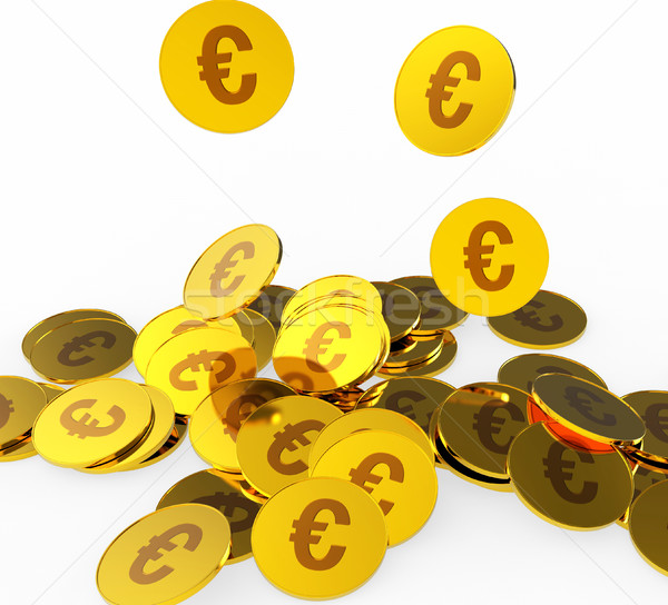 Euro Coins Represents Prosperity Euros And Financing Stock photo © stuartmiles