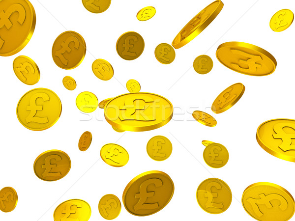 Pound Coins Represents Cost Wealth And Finance Stock photo © stuartmiles
