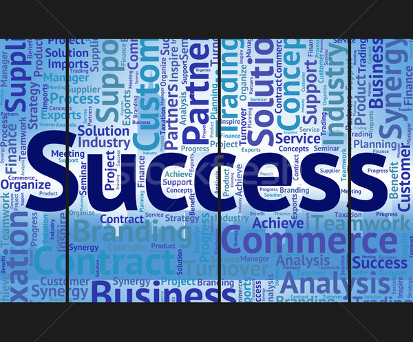 Success Word Means Victory Progress And Successful Stock photo © stuartmiles