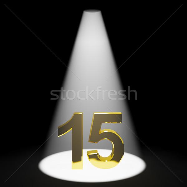 Ouro quinze 3D número aniversário nascimento Foto stock © stuartmiles