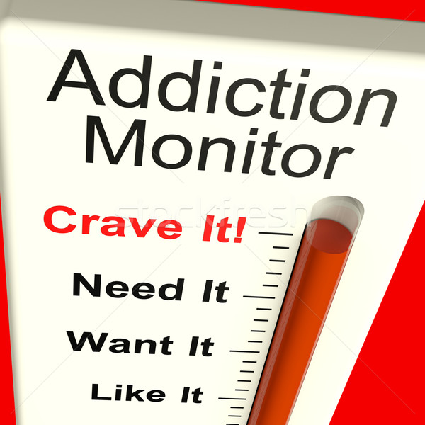 Addiction Monitor Shows Craving And Substance Abuse  Stock photo © stuartmiles