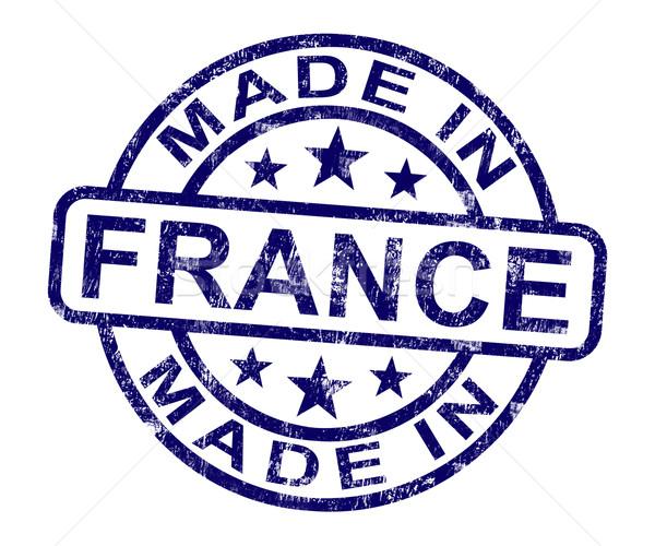 フランス スタンプ フランス語 製品 作り出す ストックフォト © stuartmiles