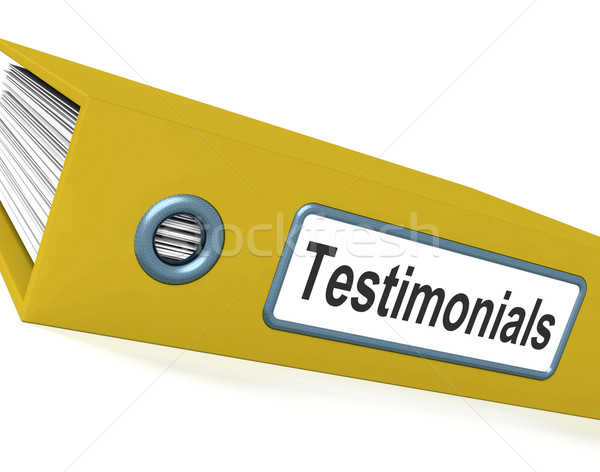 Testimonials File Showing Recommendations And Tributes Stock photo © stuartmiles