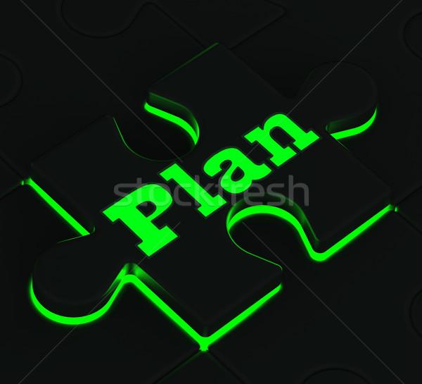 Foto d'archivio: Piano · puzzle · obiettivi · obiettivi