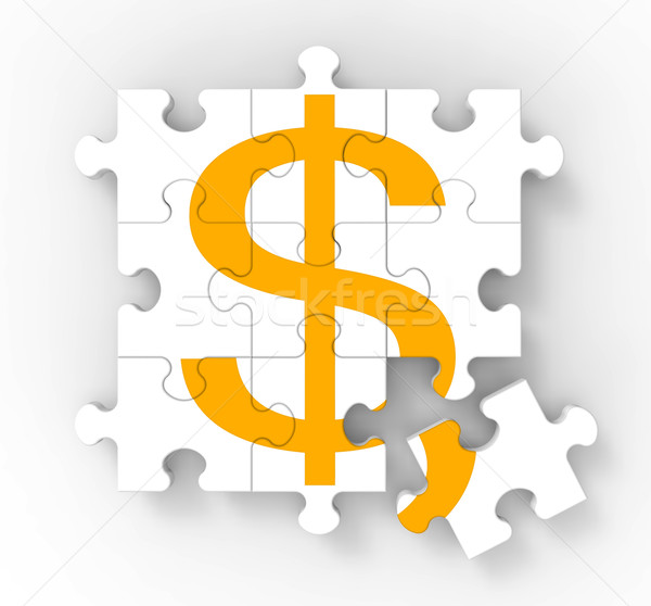 Dollar Puzzle Shows American Wealth Stock photo © stuartmiles