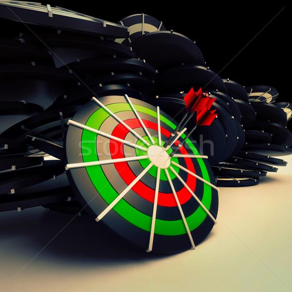 Bulls eye Target Dart Shows Successful Business Performance Stock photo © stuartmiles