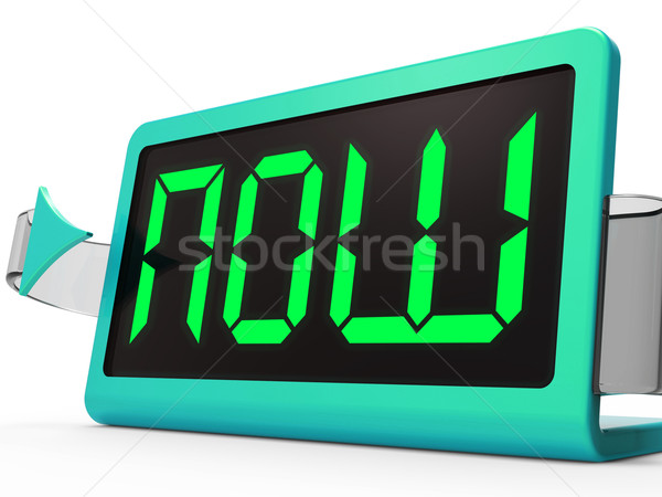 Now Clock Shows Quick Urgency For Action Stock photo © stuartmiles