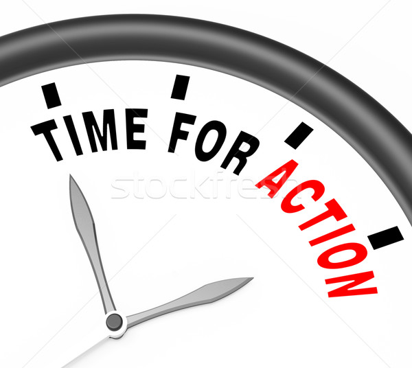Time for Action Clock To Inspire And Motivate Stock photo © stuartmiles