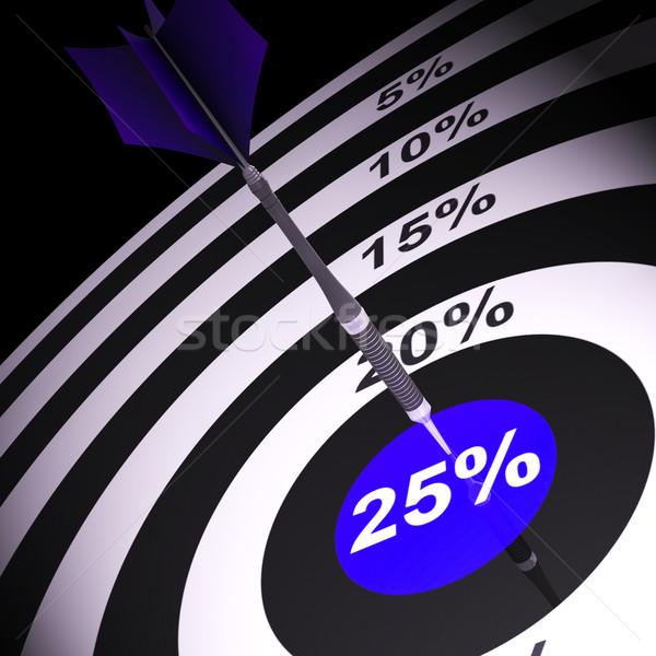 25 százalék darts tábla bónusz vásár vág Stock fotó © stuartmiles