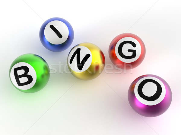 Bingo Balls Shows Luck At Lottery Stock photo © stuartmiles
