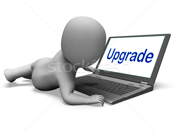 Upgrade Character Laptop Means Improving Upgrading Or Updating Stock photo © stuartmiles
