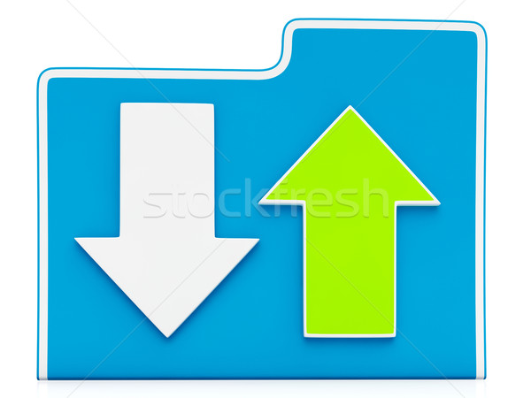Downloading and Uploading Files Icon