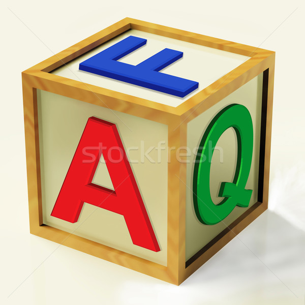 FAQ Block Means Questions Inquiries And Answers Stock photo © stuartmiles