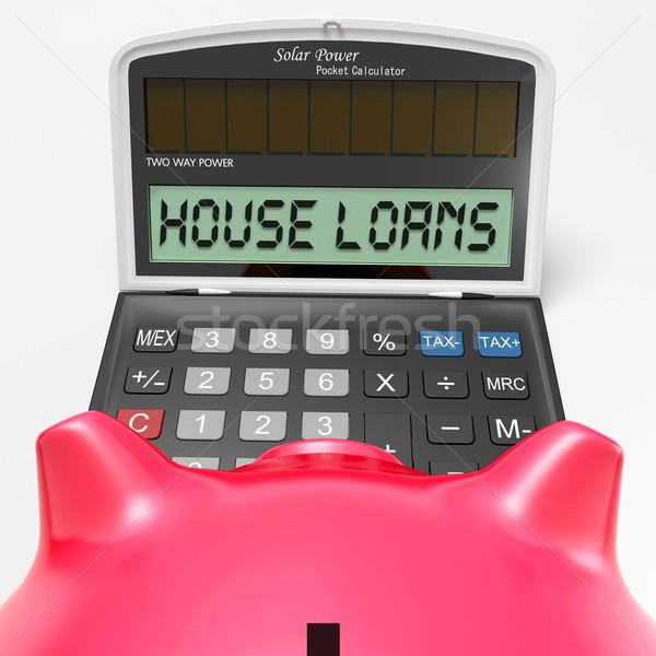 House Loans Calculator Shows Mortgage And Bank Lending Stock photo © stuartmiles