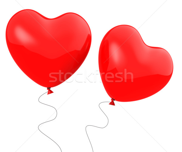 Coeur ballons montrent unité affection attraction Photo stock © stuartmiles