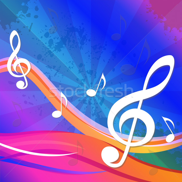 Treble Clef Background Means Artistic And Creative Design Stock photo © stuartmiles
