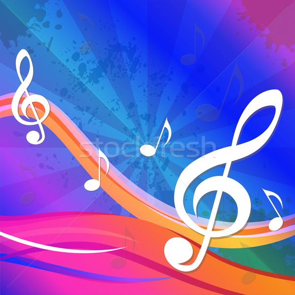 Klucz wiolinowy artystyczny twórczej projektu znaczenie muzyki Zdjęcia stock © stuartmiles