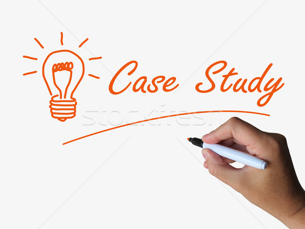 Case Study and Lightbulb Indicate Concepts Ideas and Research Stock photo © stuartmiles
