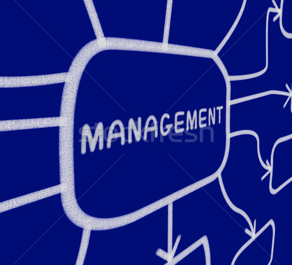 Management Diagramm Stelle Bord Business Stock foto © stuartmiles