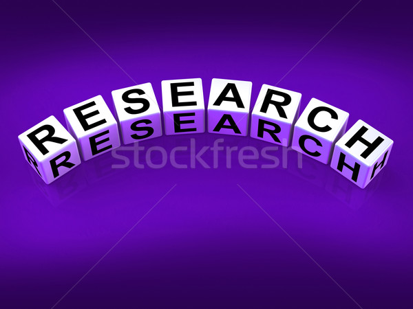 Research Blocks Show Experimental Analysis and Hypothesis Stock photo © stuartmiles