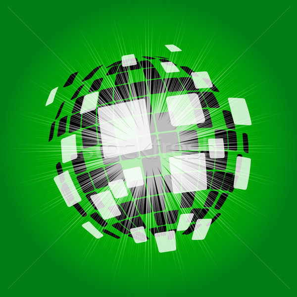 Modern Disco Ball Background Shows Digital Art Or Shining Ball Stock photo © stuartmiles